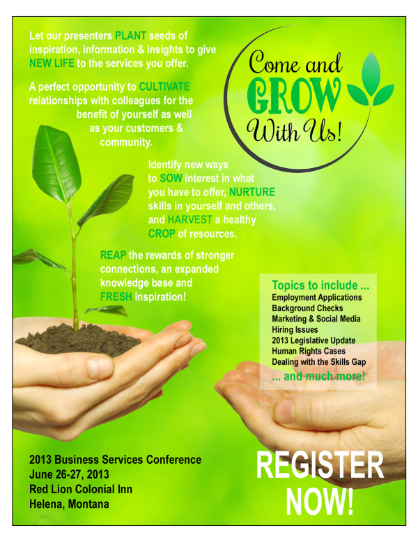 2013 Business Services Convention Flyer